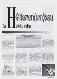 Gitarre aktuell Artikel Halsabschneider Seite 1