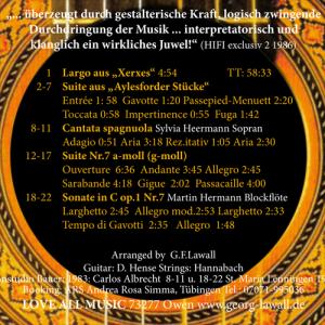 Händel Vol. I, Inlay
