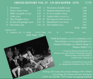 OREXIS History Vol. IV Inlay